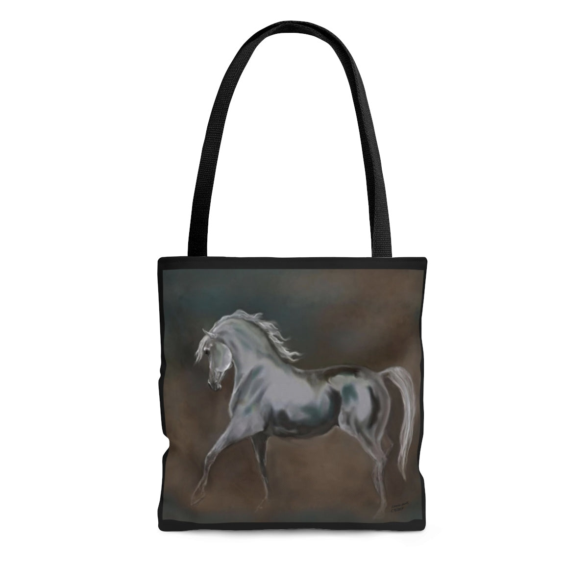 Arabian Horse print Tote Bag 3 sizes Original Horse art gift for horse person