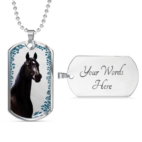 Your Horse Photo Portrait on a Surgical Stainless Steel Necklace