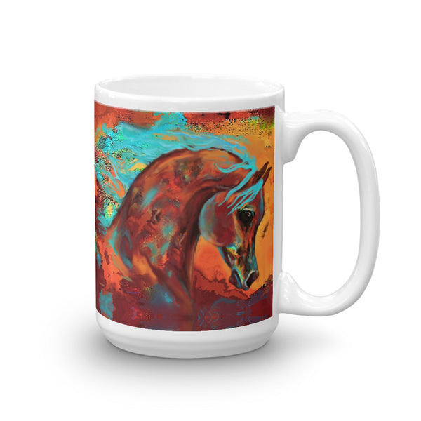 Unique Colorful Horse Mug Coffee cup tea cup Original Horse print