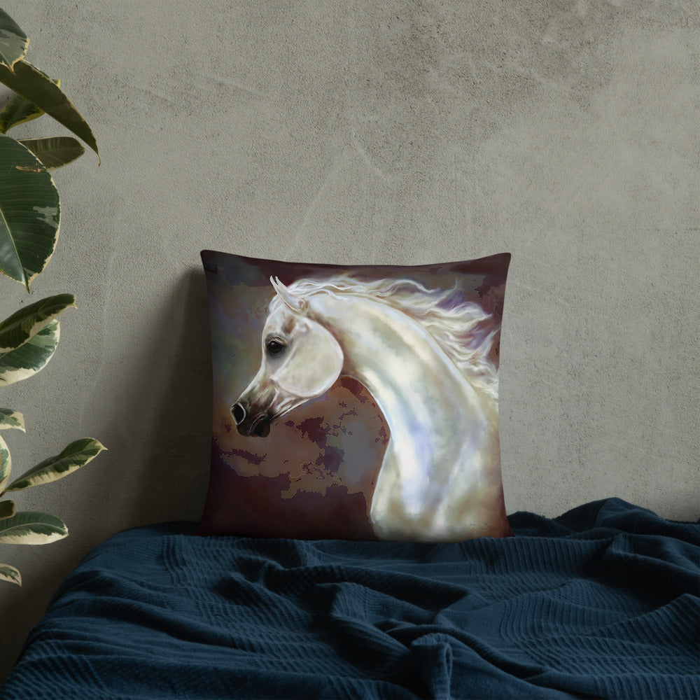 Beautiful Arabian Horse Accent Pillow