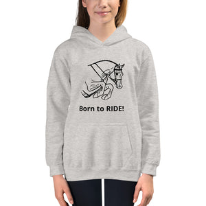 Kids Jumping Horse hoodie Born To Ride! Horseback riding shirt Boys or Girls Sweatshirt Hoodie