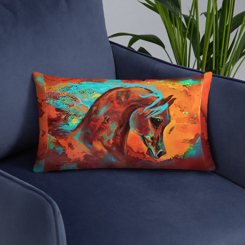 Beautiful Decorator Accent Throw Pillow Horse warm colors Original Horse