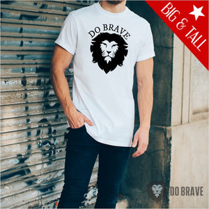 Do Brave Lion Tall T-Shirt | Unisex Fine Jersey Tall T-Shirt