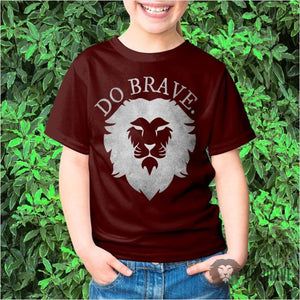 Do Brave Lion Youth Tee | Cool T Shirts | Kids Shirts
