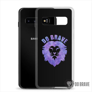 Watercolor Do Brave Lion Samsung Case