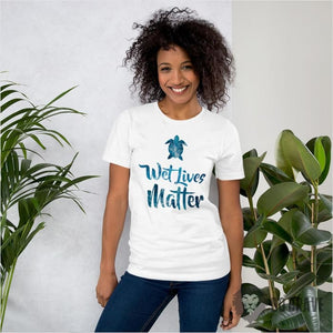 Wet Lives Matter Unisex Jersey T-Shirt - White / S