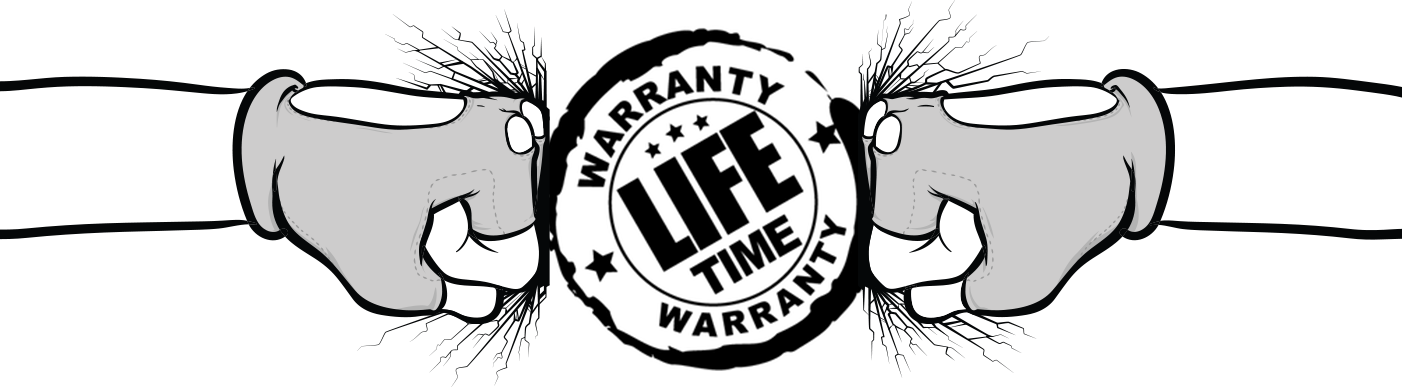 Lifetime warranty punch logo