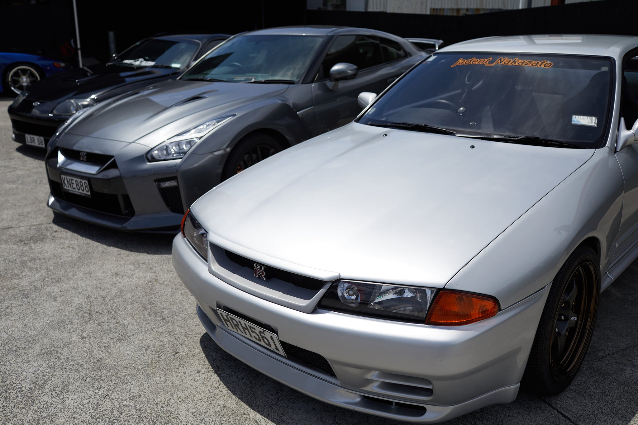 Nissan GTR 32 and 34 at Scarles