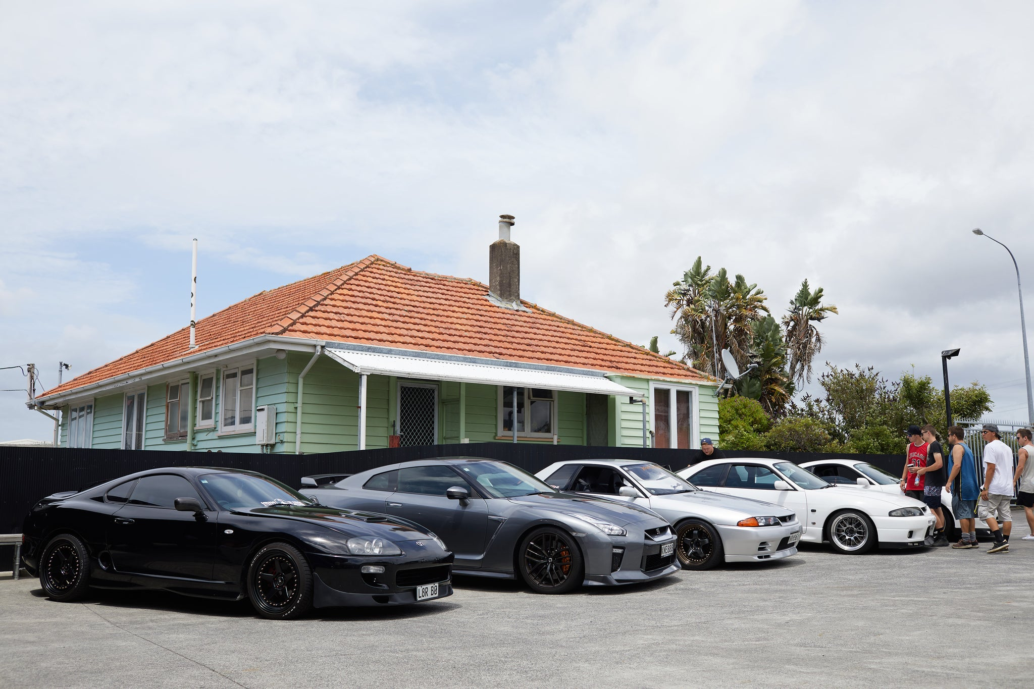 Nissan GTRs and Supras lineup at Scarles Performance