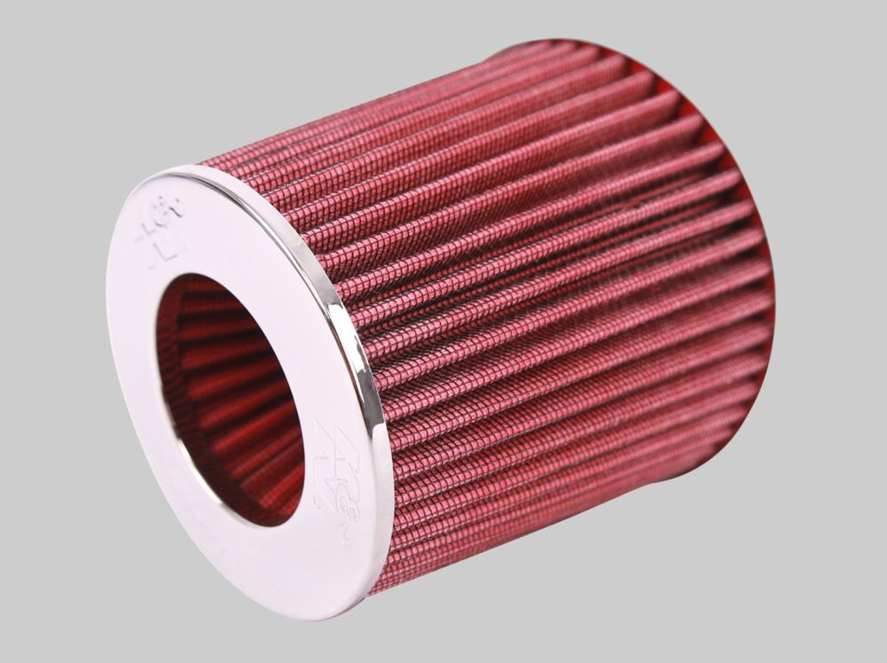 """RED UNIVERSAL 3.5/"""" 89mm FLANGE AIR FILTER FOR NISSAN AIR INTAKE+PIPE"""