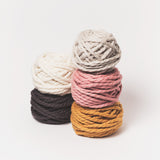 Pink 2 ply mini chunky wool yarn made from NZ Merino Wool. Free delivery across USA! We ship worldwide!