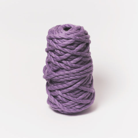 Plump & Co's giant yarn in purple 2 ply. Use our plumptious XXL New Zealand merino wool with our giant knitting needles or extreme crochet hooks to make your own chunky knit blanket or throw. Worldwide shipping, free shipping within USA!