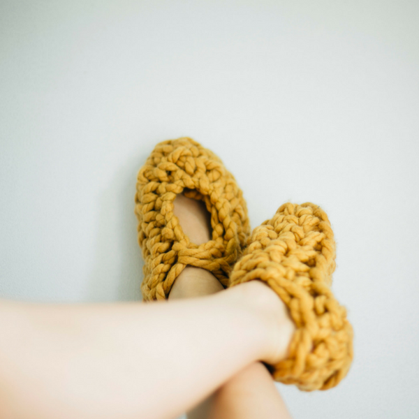 Crochet your own cosy slippers using 100% pure merino wool