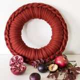 Crochet your own unique Christmas wreath using Plump & Co yarn