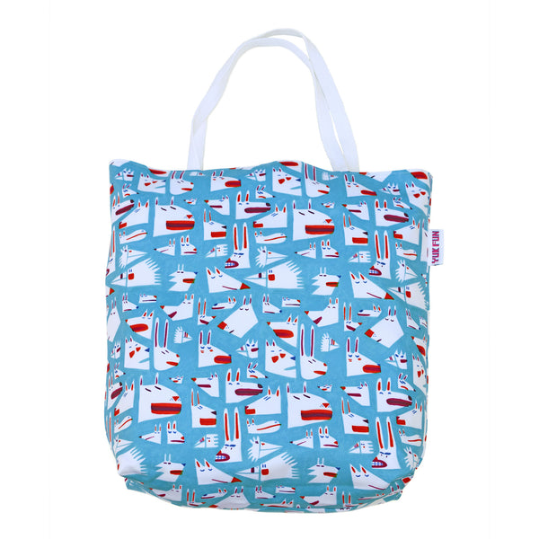 YUK FUN Animal Faces Shopper Bag