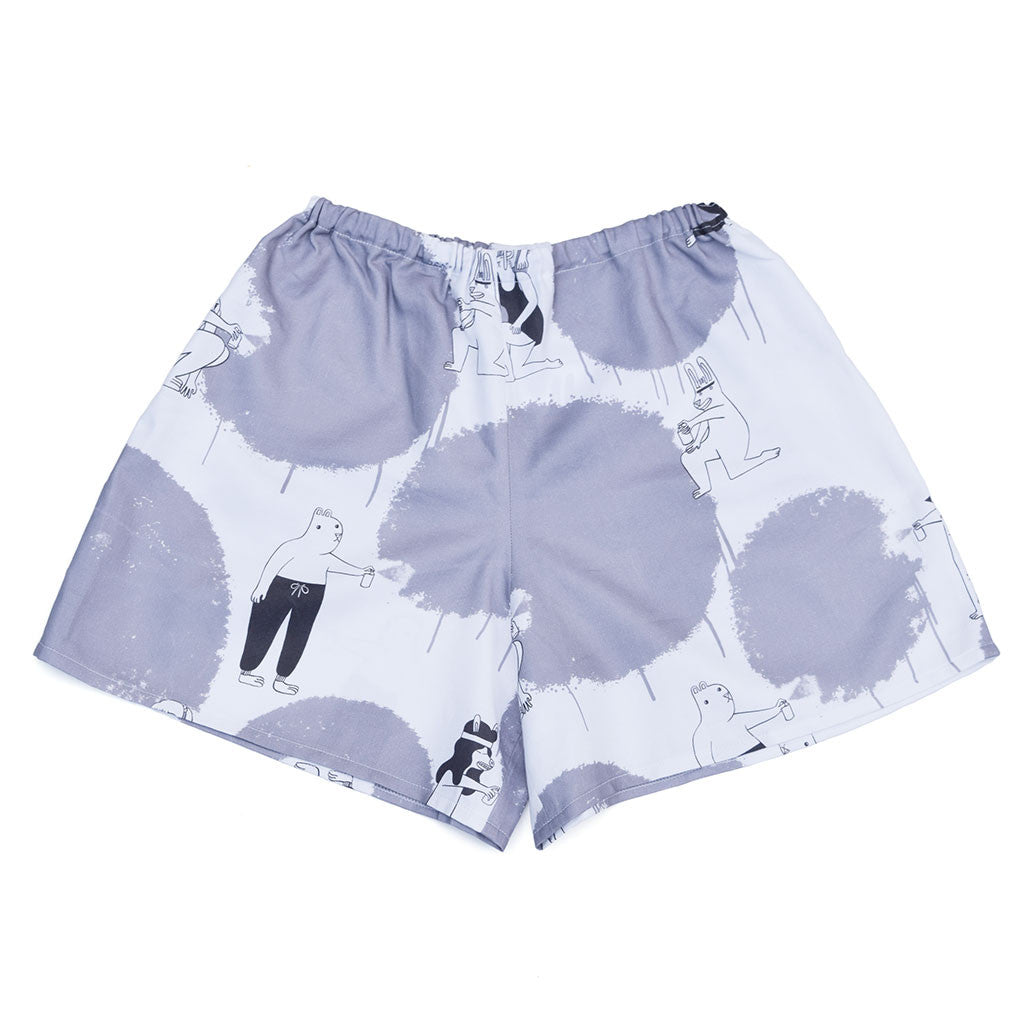 Cute Graffiti Animals Print shorts by YUK FUN