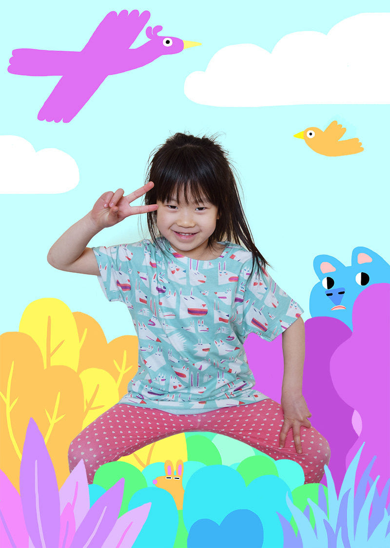 Colourful kids t-shirt by YUK FUN