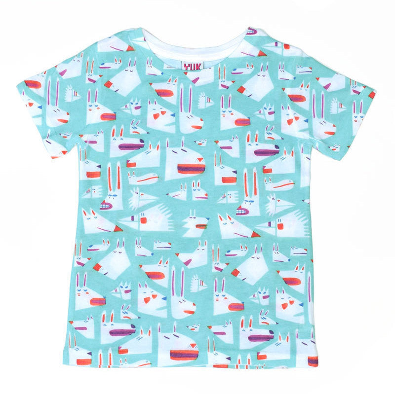 Colourful animal print kids t-shirt by YUK FUN