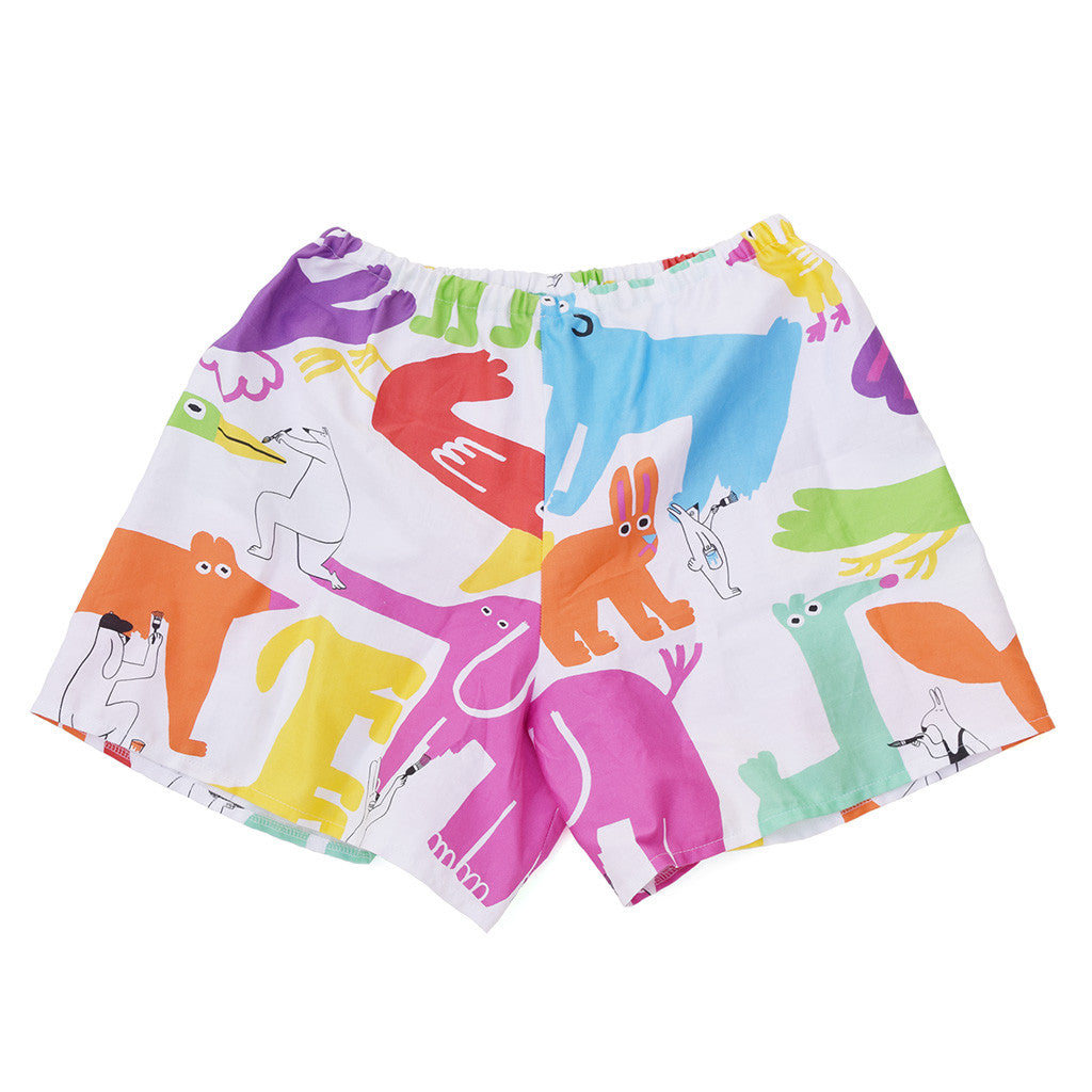 Cute Rainbow Colourful Painting Animals Print Shorts by YUK FUN
