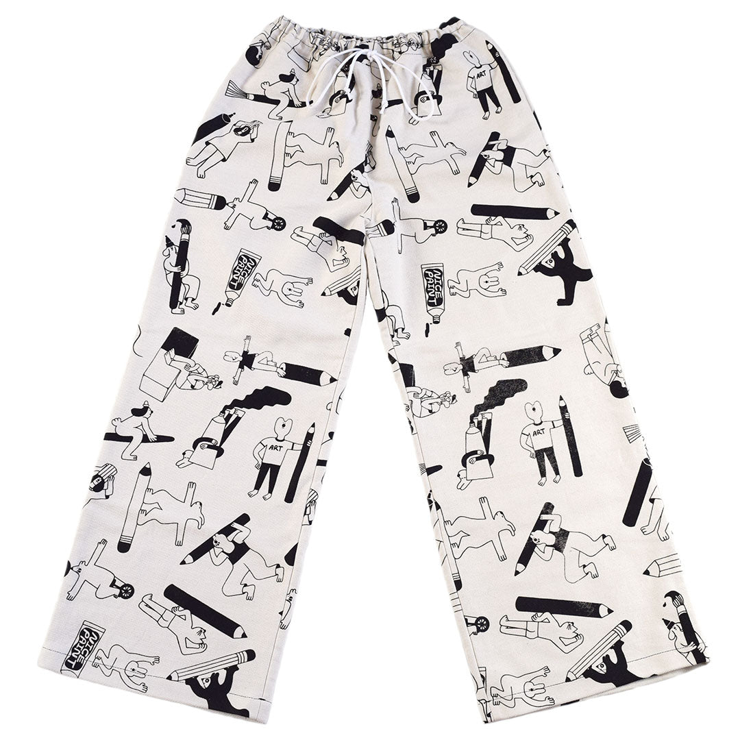 Awesome all over print graphic trousers hand made in the UK by YUK FUN