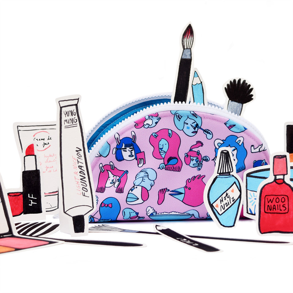 YUK FUN Cute illustrated Make Up Bag