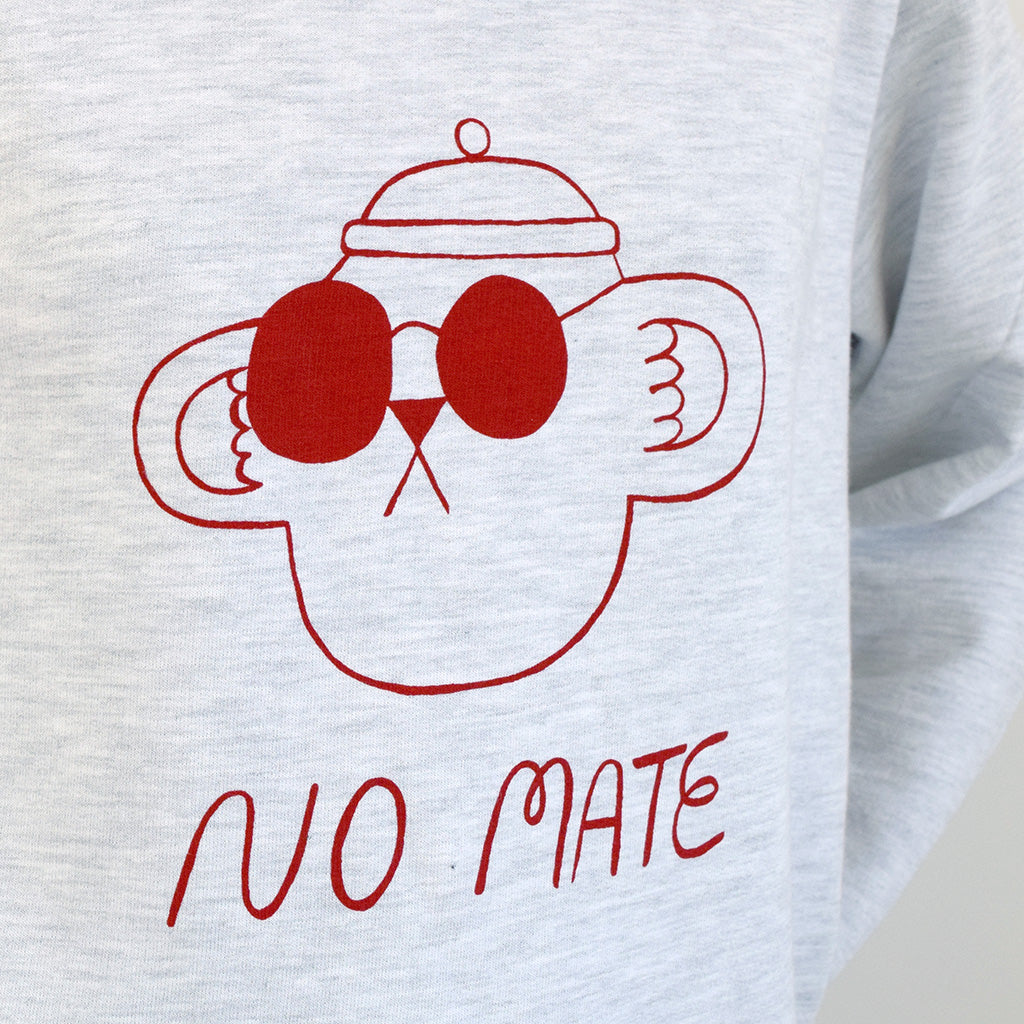 Funny No Mate illustration graphic sweatshirt by YUK FUN