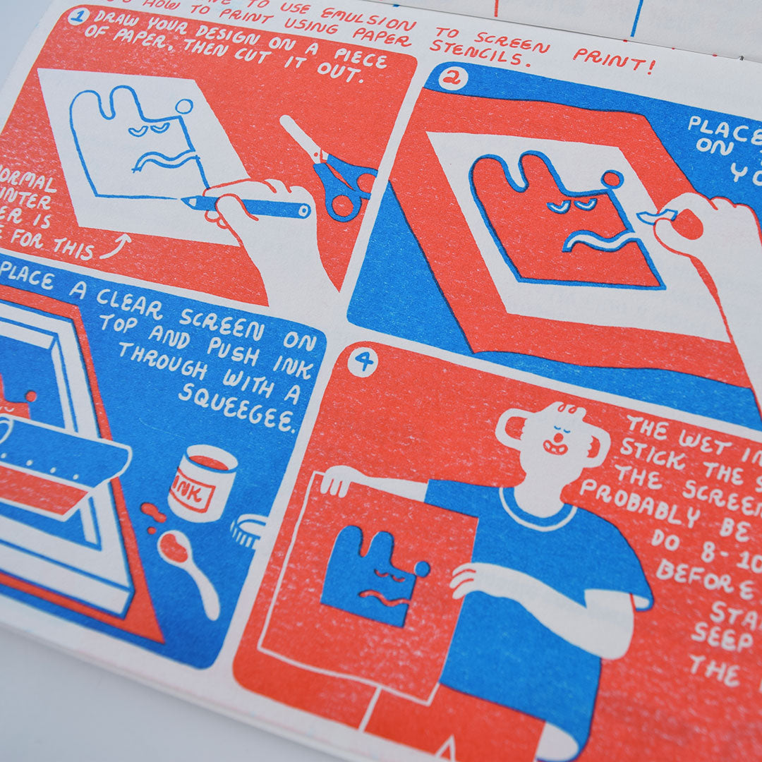 An Illustrated Guide to Screen Printing Comic 2