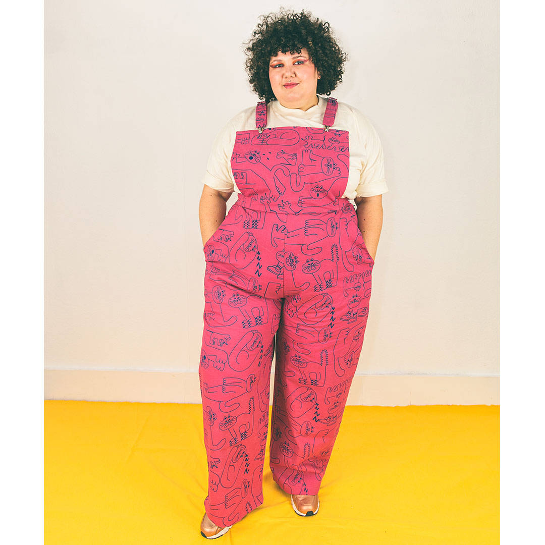 Super cute pink dungarees available in plus sizes by YUK FUN & The Emperor's Old Clothes