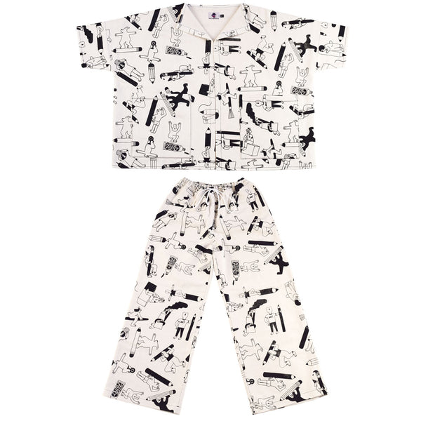 Awesome Artist Suit designed and screen printed by illustration duo YUK FUN