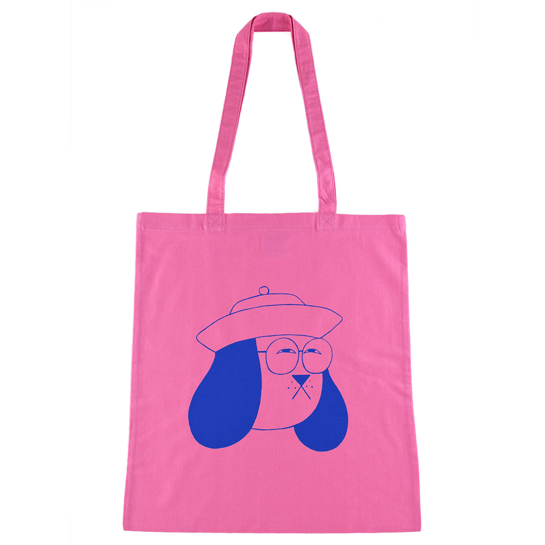 Weird Doggy Tote Bag in Pink by YUK FUN