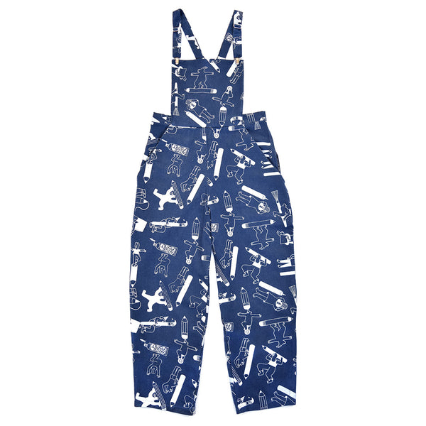 Awesome unisex dungarees ethically made in the uk from 100% sustainable organic cotton from YUK FUN X The Emperor's Old Clothes