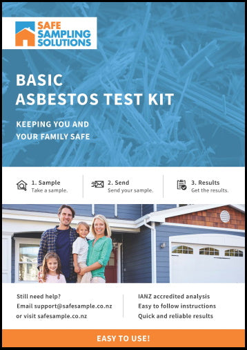 Basic Asbestos DIY Sampling Kit with IANZ Laboratory testing