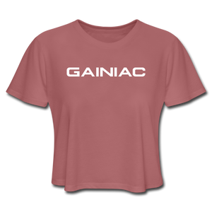 Gainiac Cropped T-Shirt - mauve