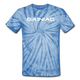 Gainiac Tie Dye T-Shirt - spider baby blue