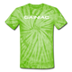 Gainiac Tie Dye T-Shirt - spider lime green