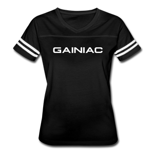 Gainiac Vintage Sport T-Shirt - black/white