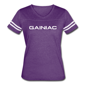 Gainiac Vintage Sport T-Shirt - vintage purple/white