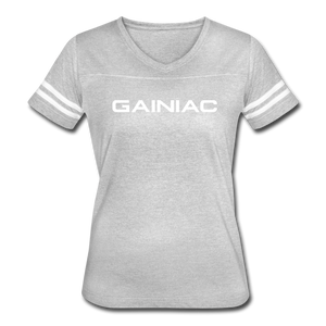 Gainiac Vintage Sport T-Shirt - heather gray/white