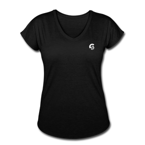 Tri-Blend V-Neck T-Shirt - black