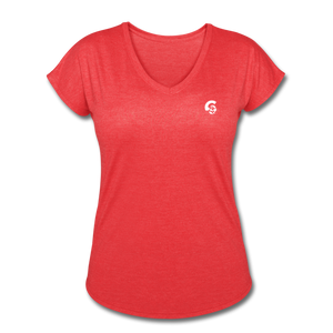 Tri-Blend V-Neck T-Shirt - heather red
