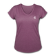 Tri-Blend V-Neck T-Shirt - heather plum