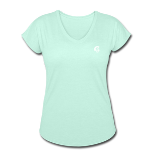 Tri-Blend V-Neck T-Shirt - mint