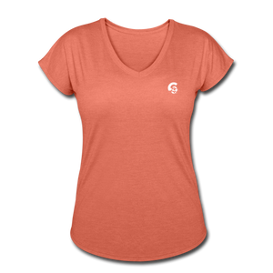 Tri-Blend V-Neck T-Shirt - heather bronze