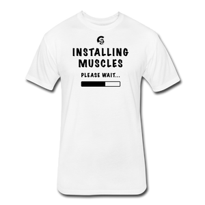 Installing Muscles T-Shirt - white