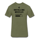 Installing Muscles T-Shirt - heather military green
