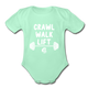 Crawl Walk Lift Baby Bodysuit_ Girl - light mint