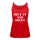 Shut Up And Squat Tank Top - red