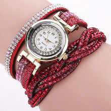 Braided leather women's watch