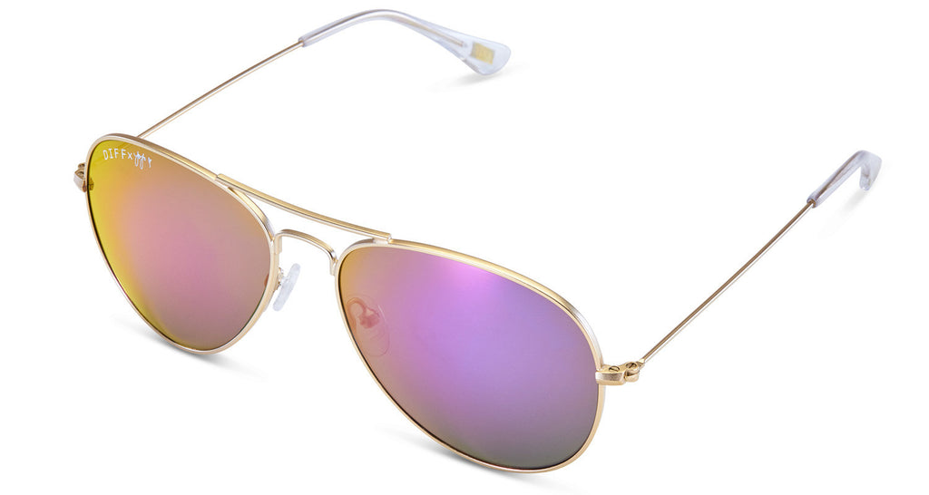 48643d45ac ... 1 JOJO EDITION CRUZ - MATTE GOLD FRAME - PURPLE MIRROR LENS - DIFF  Eyewear ...