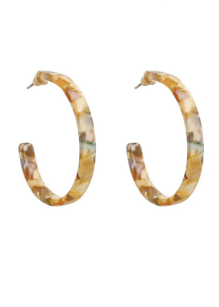 SALE Jenni Resin Hoops